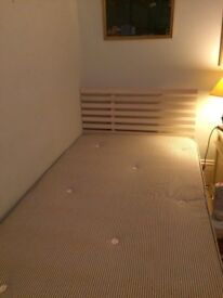 Large Single Platform Bed Frame (3'6x6' 3)and High Quality Mattress - both Warren Evans