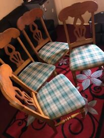 x4 DINING TABLE CHAIRS