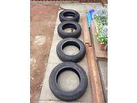 4 Part worn Winter tyres - 175/65 R14