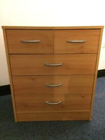 Wooden 4 Tier Chest of Drawers