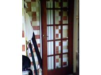 MAHAGONY GLASS PANNED INTERNAL DOOR