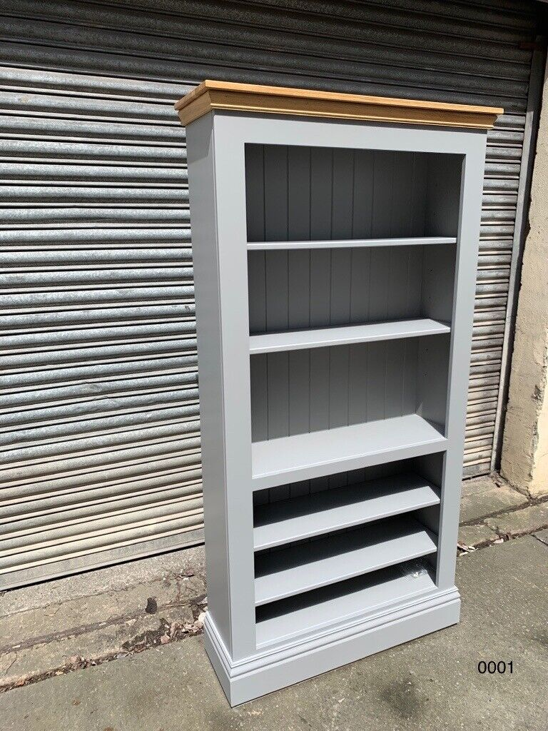 Grey Solid Wood Bookshelf With Oak Top In Westbury Wiltshire Gumtree