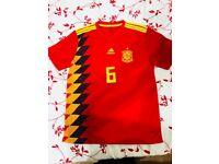 Spain Football home shirt 2018 A. Iniesta-6 s,m,l,xl,xxl quantity: 100