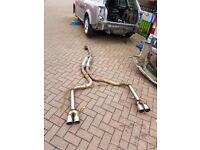 Audi a4 b6 avant stainless steel exhaust