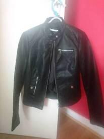 Eco leather women jacket