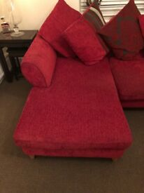 DFS Red Corner Sofa L shape