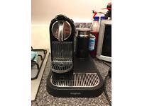 Nespresso krups coffee machine and milk froth machine