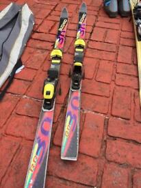 Blizzard skis and poles