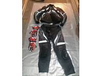 RST 2 piece leathers with gloves