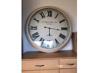 Next XL cream wall clock