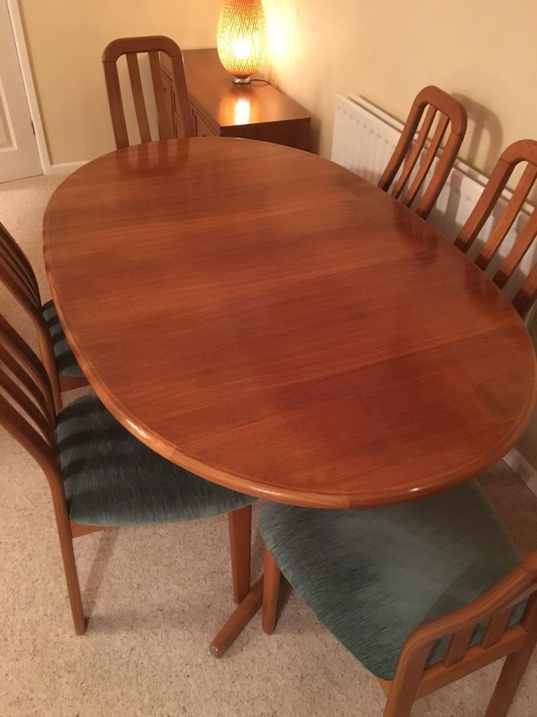 Extendable Real Wood Teak Dining Table With 6 Chairs In Fordingbridge Hampshire Gumtree