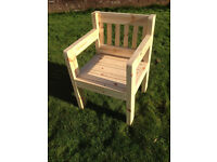 handmade garden chair