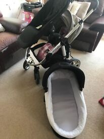 Icandy Apple 2 Pear pram + extra (new) seat + adaptors