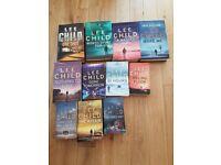 Various book collections (Lee child, Robert Ludlum, Camilla Lackberg)