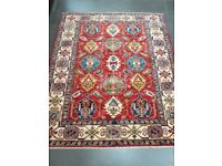 Authentic Afghan Rug - Hand Made with 100% Wool - 187 x 156cm