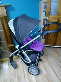 Mamas and papas sola pram and pushchair with extras