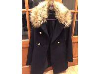 Boohoo Winter Coat New Black