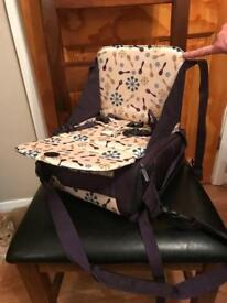 Munchkin travel booster seat-for tables not cars