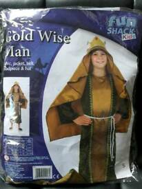 Gold wise man costume age 4-6