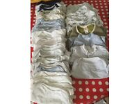 0-3 baby boys vests and grows