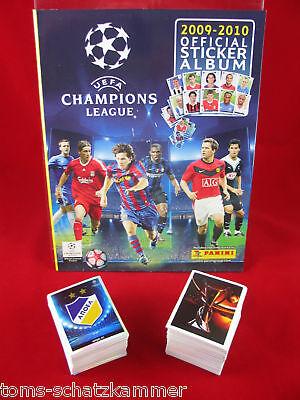 Panini Champions League 2009/2010 Satz komplett + Album = alle Sticker CL...