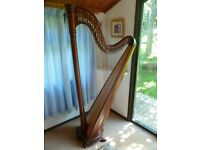 HARP, Salvi Ana Mahogany finish 38 string lever harp. Stunning harp with a beautiful sound