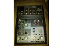 Xenyx 502 audio mixer