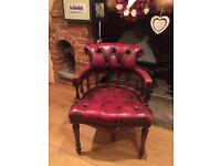 Vintage oxblood chesterfield arm chair