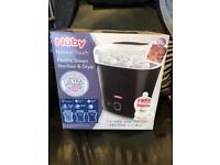 Nuby Natural Touch Electric Steam Steriliser and Dryer - Black