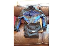 Mens Motorbike jacket and waterproof overtrousers
