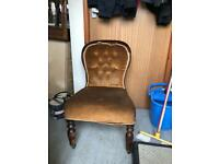 Low Victorian chair