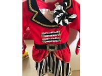 Pirate party costume for girls