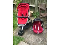 QUINNY BUZZ XTRA PUSHCHAIR AND MAXI COSI CAR SEAT WITH ADAPTERS AND 2 RAIN COVERS £150 ONO