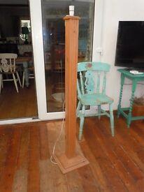 Corinthian Column pine Standard Side Hall Table Lamp shabby chic project