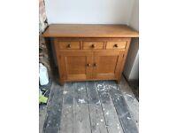 Solid oak M&S sideboard