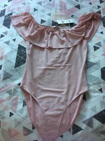 NEW Miss selfridge pink bodysuit