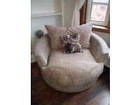 Swivel chair - Stone fabric
