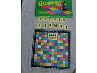 QUANDARY SPEAR'S COLLECTABLE GAME - RARE AND COMPLETE 1970 ISSUE - A GAME OF SKILL & TACTICS