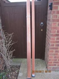 Two 30metres bundles of copper tubve, one 22mm one 15mm, new