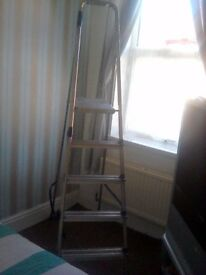 8 foot aluminum ladders brand new perfect for a painrer and decorator