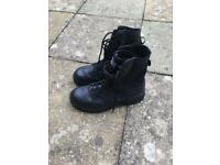 Brand new black military boots