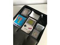 Original Gameboy with games and Nuby case