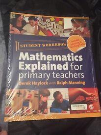 Mathematics Explained For Primary Teachers 4th Edition Derek Haylock Student Workbook