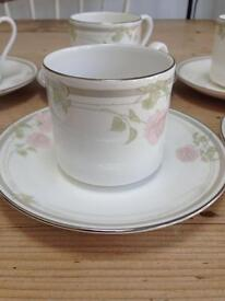 Royal Doulton Twilight Rose set of 6 Coffee Cups and Saucers