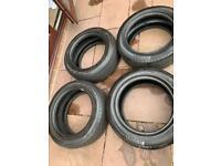 4 x 225/55 R17 run flats tyres part worn