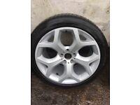 BMW X6 X5 alloy wheels with Bridgestone tyres