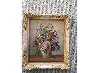 Original Hans Pawlitschek Summer Flowers Oil Painting