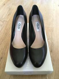 Black Leather Platform Shoes Size 5