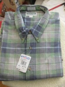 "NEW ATTRACTIVE ""WINDRIVER "" SIZE 3XL COZY COTTON FLANNEL PLAID  MAN'S SHIRT"
