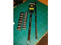 Extra long ratchet spanner NEW sockets breaker bar NEW